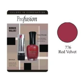Profusion Nail Polish and Lipstick Gift Set - Red Velvet 776